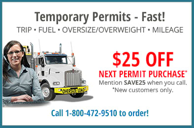 $25 off Trip permits- Call 1-800-472-9510 to order and mention code SAVE25. New customers only.