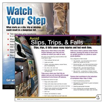 Slips, Trips & Falls Charts/Posters