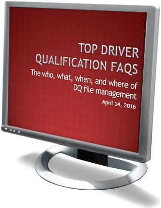Top Driver Qualification FAQs Webcast