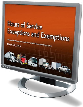 Give Me A Break! Am I Exempt from HOS or ELDs? Webcast