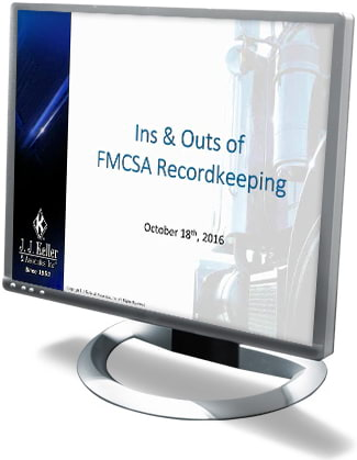 Ins and Outs of FMCSA Recordkeeping