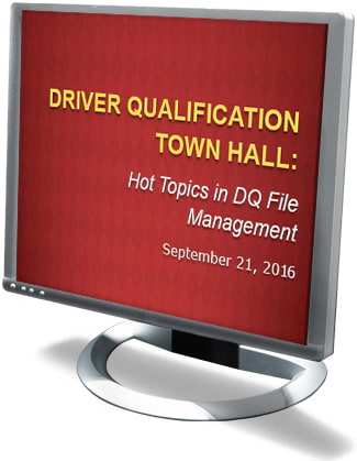 Driver Qualification Town Hall