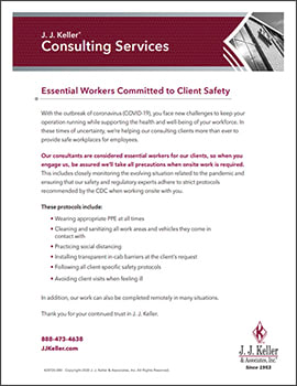 Essential Workers Committed to Client Safety