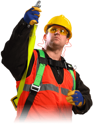 Worker using PPE Equipment