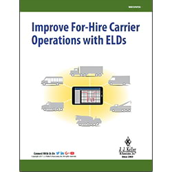 Improve For-Hire Carrier Operations with ELDs - Free Whitepaper
