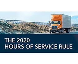 The New 2020 Hours of Service Rule: More Flexibility & Productivity