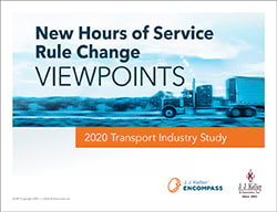 New Hours of Service Rule Change Survey Study
