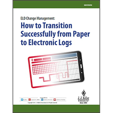 ELD Change Management: How to transition successfully from paper to e-logs - Free Whitepaper