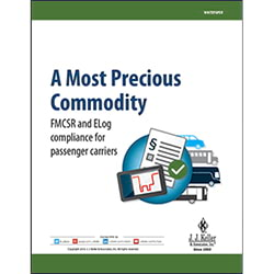 A Most Precious Commodity: FMCSR and ELog Compliance For Passenger Carriers - Free Whitepaper