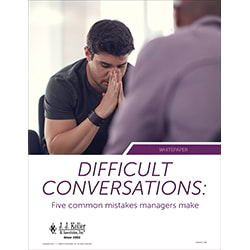 Difficult Conversations: Five Common Mistakes Managers Are Making - Free Whitepaper