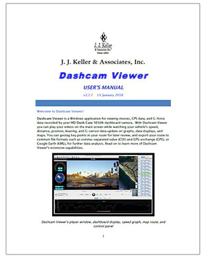 J. J. Keller HD Dash Cam User's Manual